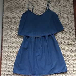 Old Navy Denim Peplum Mini A Line Sundress Size XS